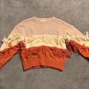 Fringe multicolor sweater